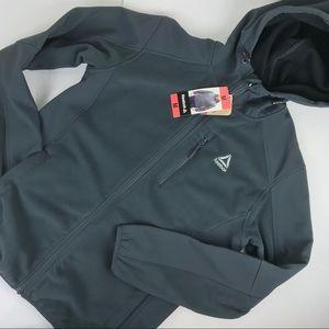 Reebok NWT zip up hoodie gray